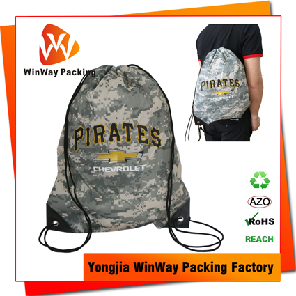 PO-071 210D Polyester Sublimation Printing Drawstring Backpack Gym Bag