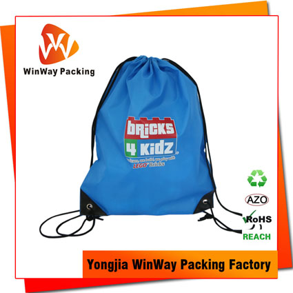 PO-076 Eco-Friendly Promotional 210D Polyester Drawstring Backpack