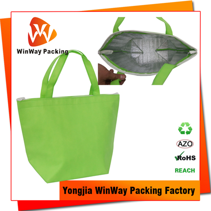ICE-045 Sample Free Cheap Price Non Woven Ice Cream Folding Shopping Bag