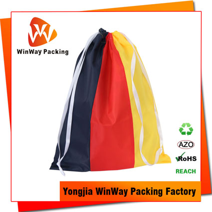 PO-080 promotional 210D Polyester drawstring gift bag