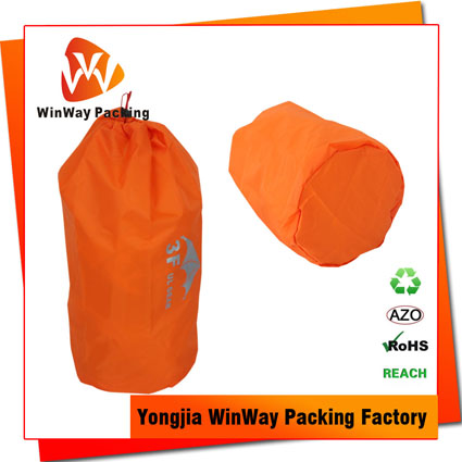 PO-081 custom outdoor sports hiking camping drawstring polyester bag